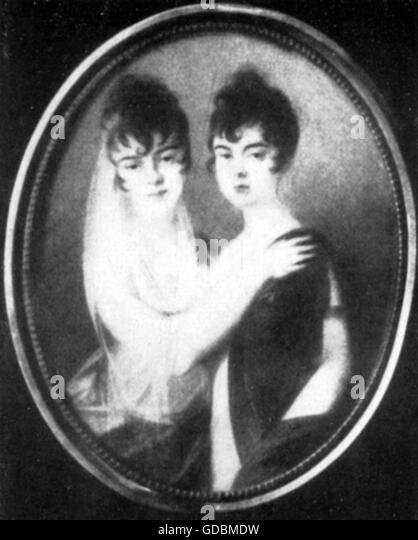 Josephine and Charlotte Brunsvik, 19th century - Stock-Bilder