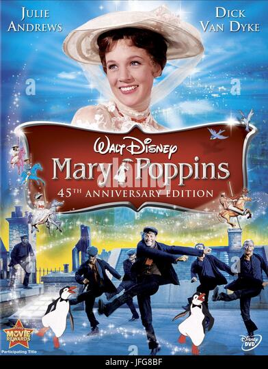 JULIE ANDREWS POSTER MARY POPPINS (1964) - Stock Image