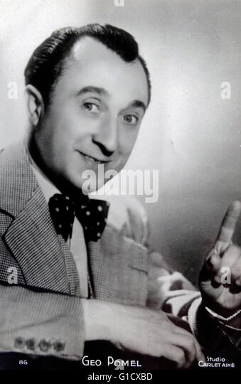 Geo Pomel, French actor. Dated 20th Century - Stock-Bilder
