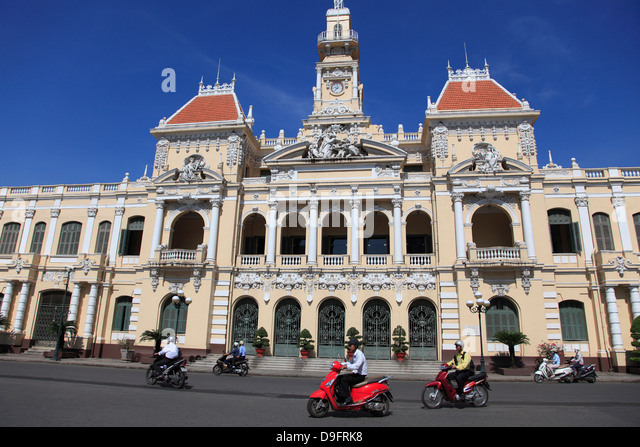 Peoples Committee Building, City Hall, Ho Chi Minh City (Saigon), Vietnam, Indochina, Southeast Asia - Stock Image