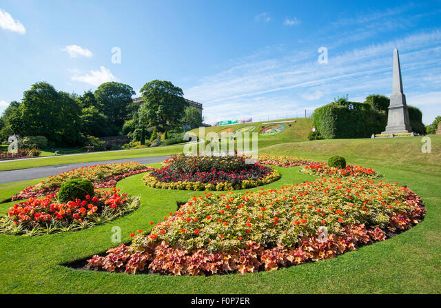 Summer at Nottingham Castle, Nottinghamshire England UK - Stock Image