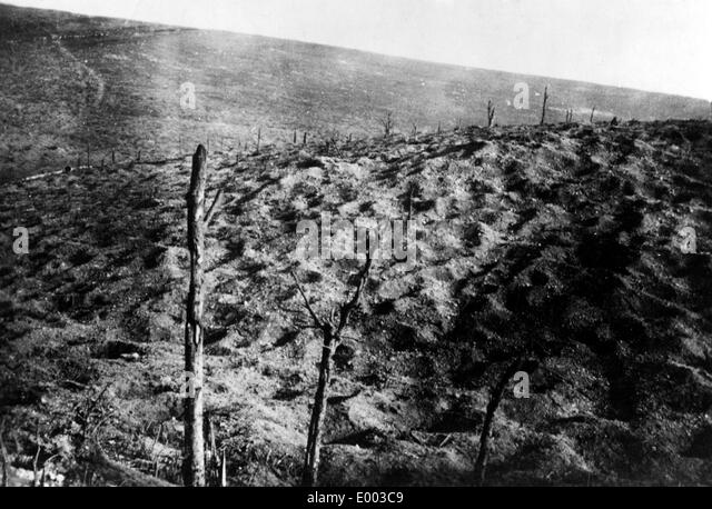 Former battleground near Fort Douaumont, 1927 - Stock Image