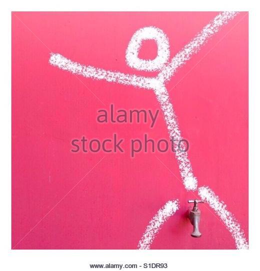 Stick man - Stock Image