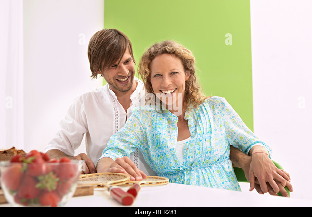 family having a healthy diet - Stock Image