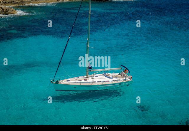 Sailing yacht - Stock Image