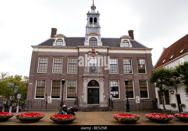 Edam Town Hall building, Edam the Netherlands - Stock Image