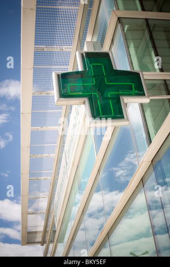 pharmacy pharmacist chemist chemists dispensing medical  medicine pharmaceutical - Stock Image