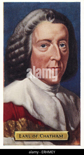 William Pitt, 1st Earl of Chatham -  Twice Prime Minister of Great Britain. WP: 15 November 1708 – 11 May 1778. - Stock Image