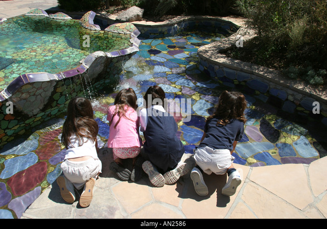 New Mexico Albuquerque Biological Park Rio Grande Botanic Garden Children's Fantasy Garden W - Stock Image