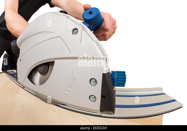 hand buzz saw at work - Stock Image