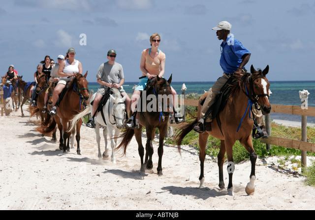 Grand Turk Atlantic Ocean Indigenous Horse Shelter horseback riding - Stock Image