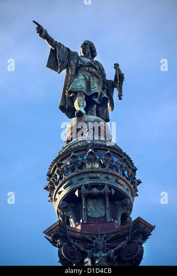 Columbus Monument, Monument A Colom, Columbus Statue, Barcelona, Spain - Stock-Bilder