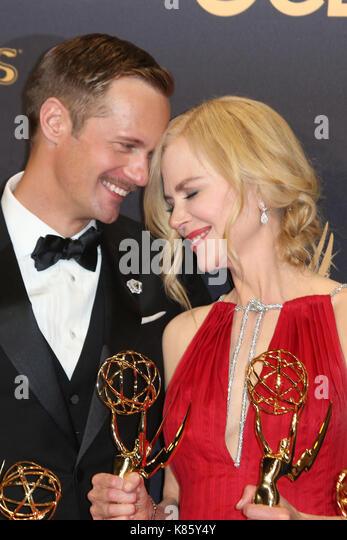 Los Angeles, California, USA. 17th Sep, 2017. Nicole Kidman, Alexander Skarsgård at The 69th Emmy Awards - - Stock Image