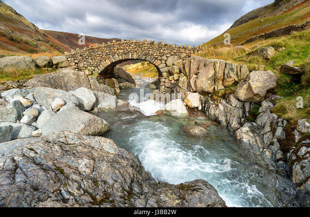 Stockley Bridge near Allerdale in the Lake District National Park in Cumbria - Stock Image