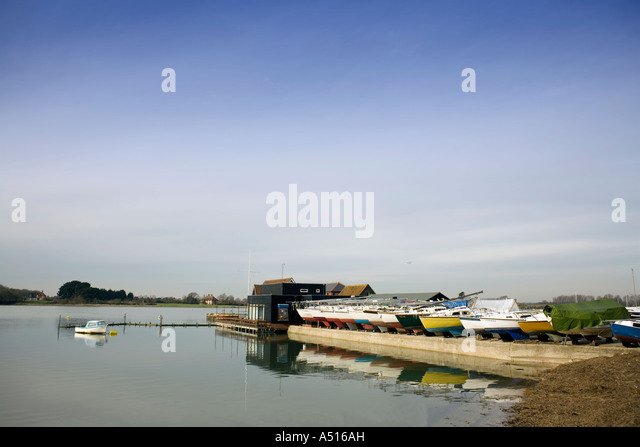 Boats at Dell Quay - Chichester - England - Stock Image