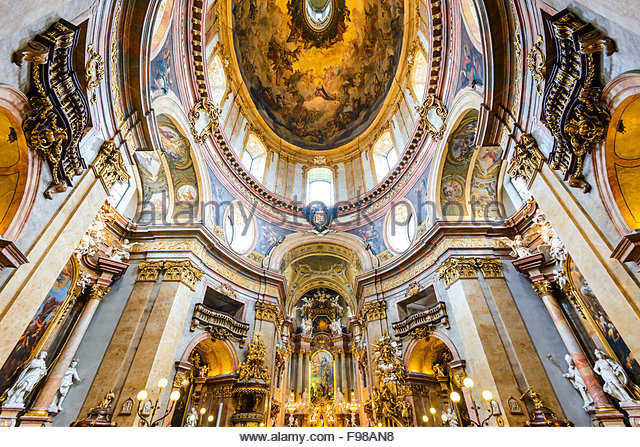 Dome of monumental gothic St. Stephen's Cathedral ( Stephansdom ) in Wien, Vienna, Austria capital city. - Stock Image