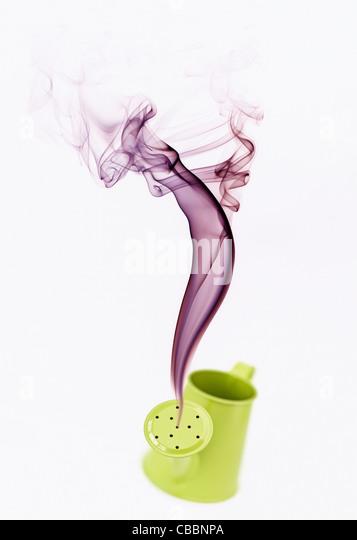 Genie Smoke Art - Stock Image