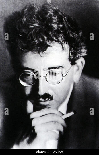 WALTER BENJAMIN (1892-1940) German philosopher about 1925 - Stock Image
