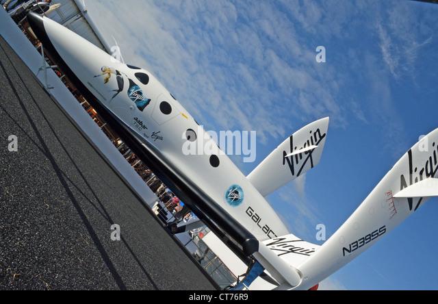 Virgin Galactic's SpaceShipTwo spaceplane at Farnborough 2012 - Stock Image