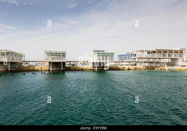 Limassol new marina units awaiting occupation. - Stock Image