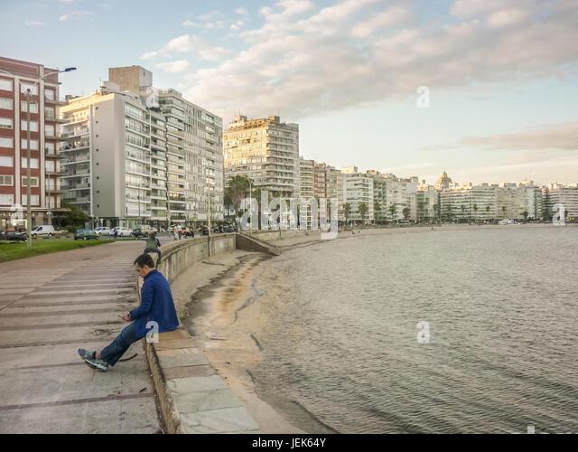 Montevideo Boardwalk - Stock Image