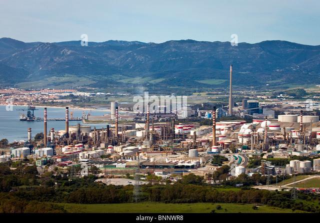 Andalusia Spain industry Algeciras refinery oil energy - Stock-Bilder