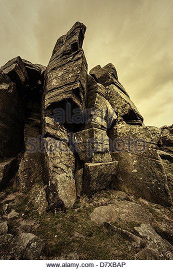 dramatic rock - Stock Image