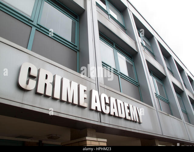 Crime Academy at Hendon Police College in North London - Stock Image