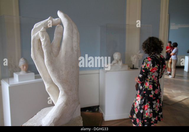 Paris France Europe French 7th arrondissement Musée Rodin Rodin Museum art sculpture hands - Stock Image