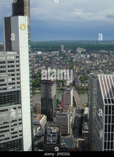 Commerzbank Logo, Frankfurt am Main, Hessen, Germany. Photo by Willy Matheisl - Stock Image