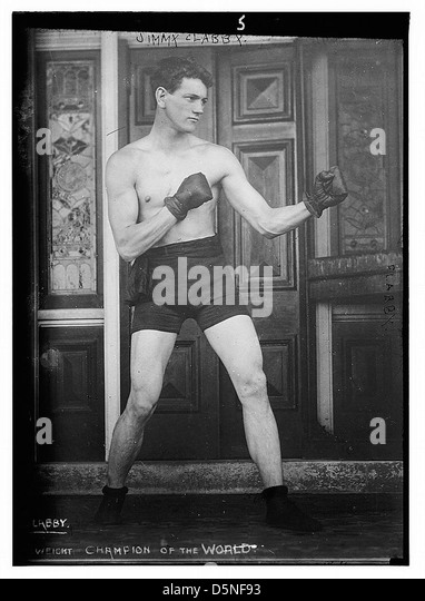 Jimmy Clabby. Boxing (LOC) - Stock Image