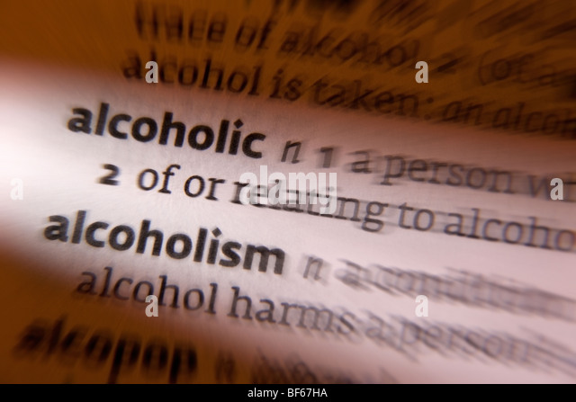Concept - alcoholism - Stock Image