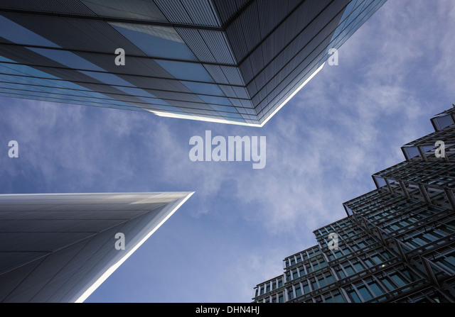 Architectural detail from the More London area near Tower Bridge, London. - Stock Image