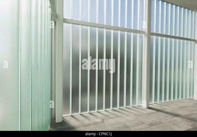 Glass wall - Stock Image