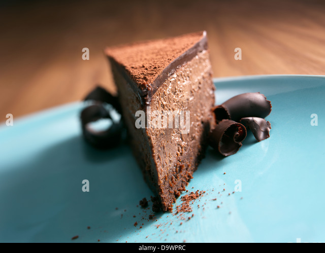 chocolate cheesecake - Stock Image