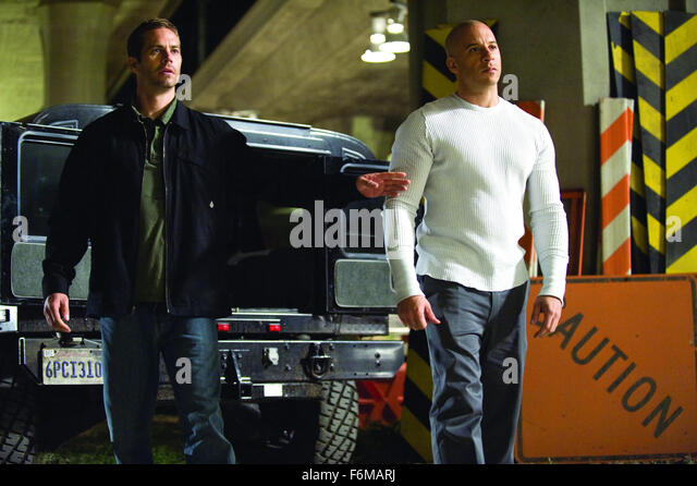 PAUL WALKER and Vin Diesel..'Fast & Furious' Film - 2009. - Stock Image
