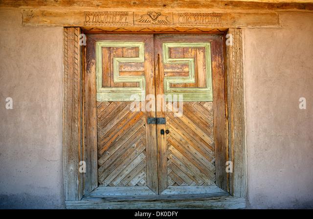 San Jose de Gracia Catholic Church. New Mexico - Stock Image