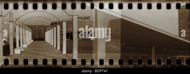 A film strip of a walkway - Stock Image