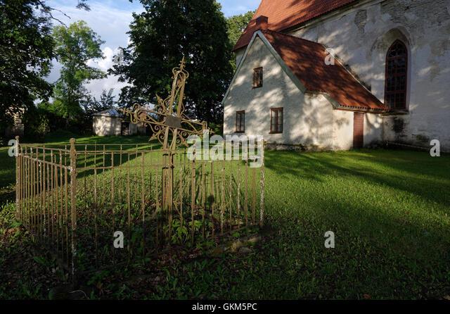Old Tomb in the Mihkli churchyard. Mihkli Church in Pärnu County. Estonia Baltic States EU - Stock Image