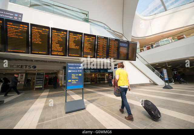 New Street Railway Station, Birmingham, UK. - Stock Image