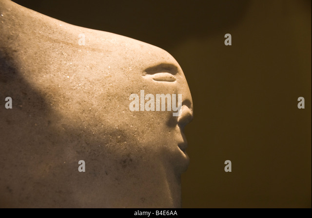 Abstract stone carving in the shops at Fairmont Chateau Lake Louise Canada, Canadian shopping local arts crafts - Stock Image
