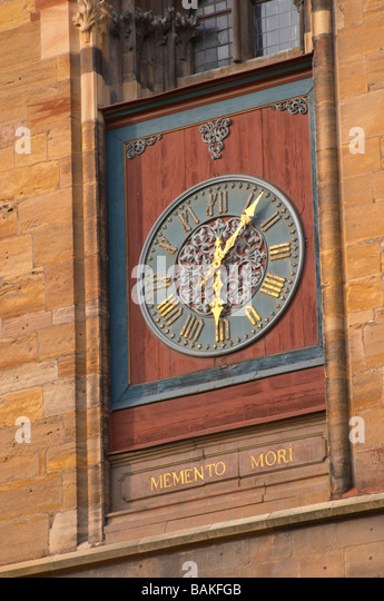 clock colmar alsace france - Stock Image
