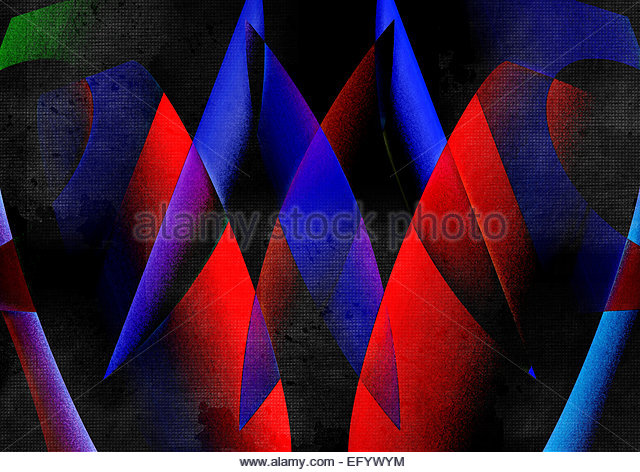 Abstract geometric shape design - Stock-Bilder