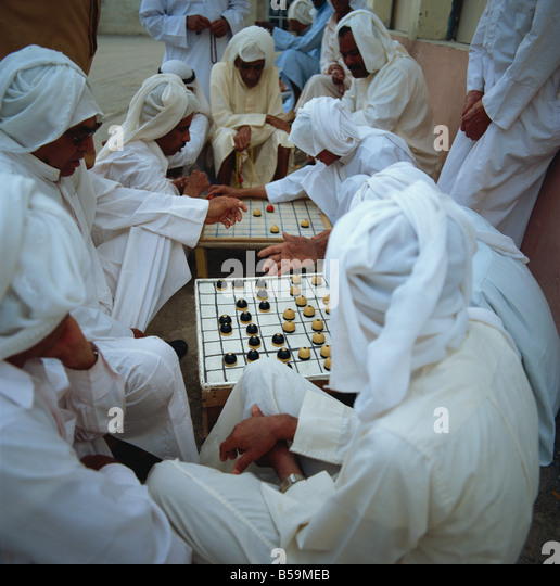 Board games, Muharraq, Bahrain, Middle East - Stock Image