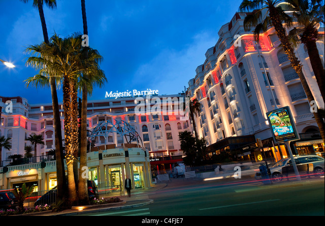 Hotel majestic cannes stock photos hotel majestic cannes for Hotels barriere