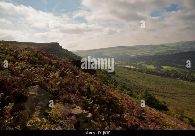 Bamford Edge in the Peak District National Park. - Stock Image