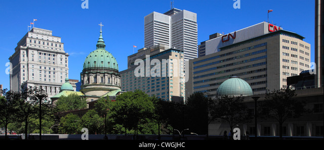 Canada Quebec Montreal Place du Canada downtown - Stock Image