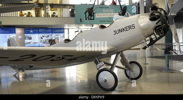 The Junkers A50 was a German sports plane of 1930s, also called the A50 Junior. A50ci D-2054 in Deutsches Museum - Stock Image