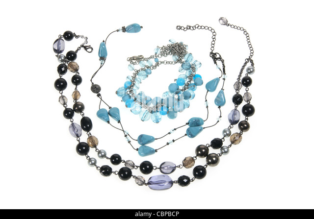 Beaded Necklaces - Stock Image