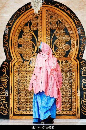 Door at the Great Mosque, Touba, Senegal, West Africa - Stock Image